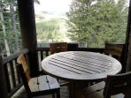 Outdoor seating area at Lookout 7 - Deer Valley