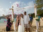 Getting married on Princess Margaret Beach is a dream for many