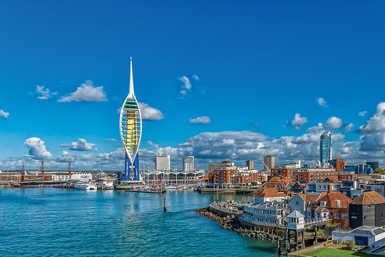Portsmouth Town and bay area ENGLAND
