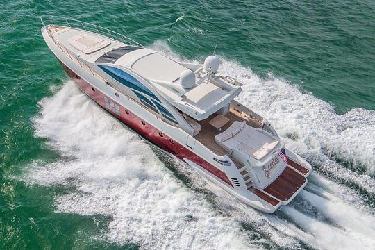86 Azimut With Flybridge With 2 Waverunners In Miami