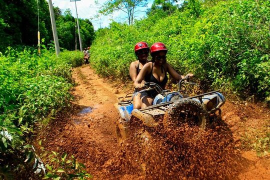 Best Atv Tour, 5 Ziplines and Cenote jump with Transportation from Cancun