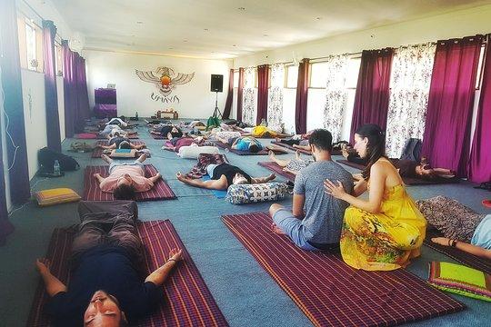Rebirthing breathwork group session