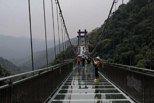 Gulong Canyon Grand Glass Skywalk Bridge Private Tour