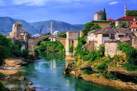 Teen girls in Mostar