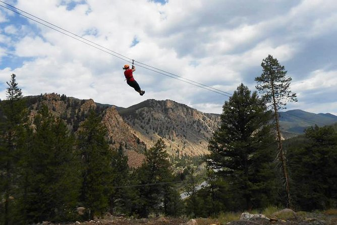 Browns Canyon Half-Day Rafting plus Mountaintop Zipline from Buena Vista