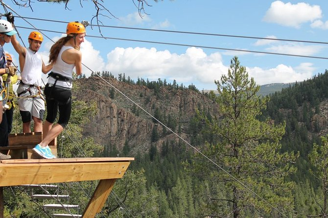 Numbers Half-Day Whitewater Rafting plus Mountaintop Zipline from Buena Vista