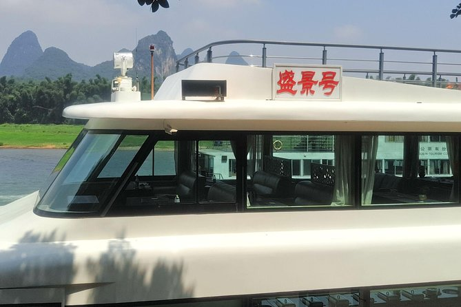 1-Day Relaxing Li River Cruise with the 4 Star Luxury boat Upper Deck Seating