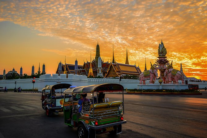 Bangkok Tuk Tuk Sunset Long-tail Night Lights