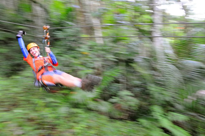 Full-Day Zipline and Waterfall Rappelling Adventure Near San Juan