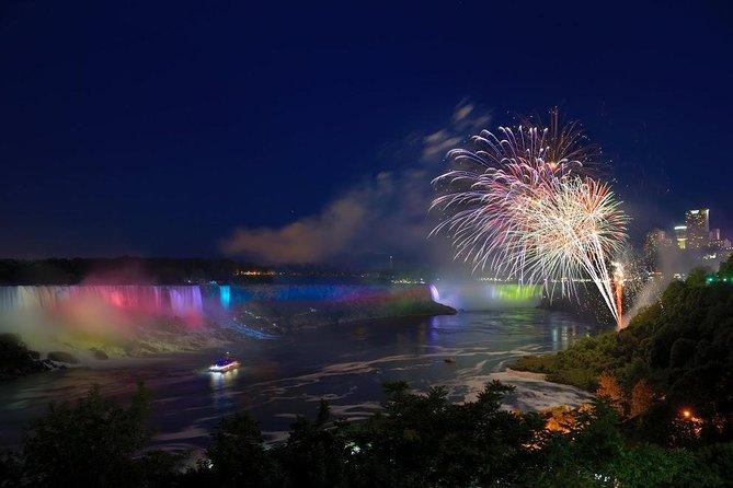 Niagara Falls Canadian Side Evening Illuminations Tour from USA