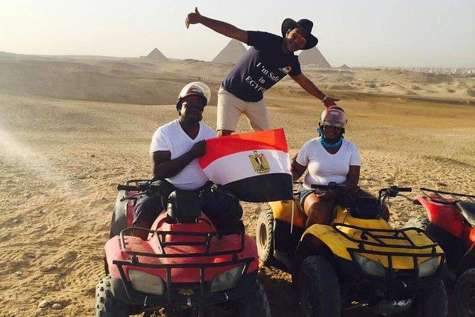 ATV at Giza Pyramids and Camel Ride during surise