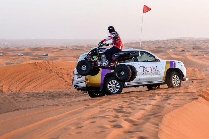 6-Hour Dubai Desert Dinner Safari with Quad Biking and Sandboarding