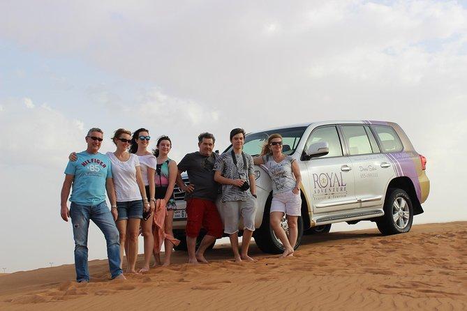 MorningDesertSafari: DuneBashing Experience with CamelRide & sunboard experience