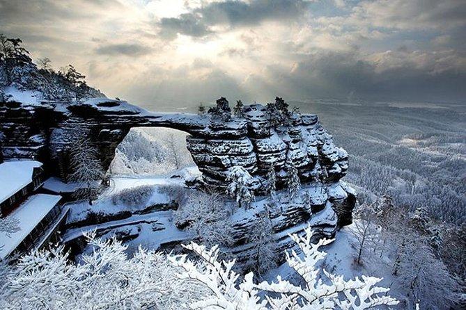 Pravcicka Gate & Bastei Bridge Winter National Park Tour from Prague