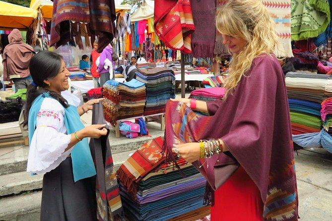 Full-Day Tour Otavalo Market, Peguche Workshops, and Cuicocha Lagoon.