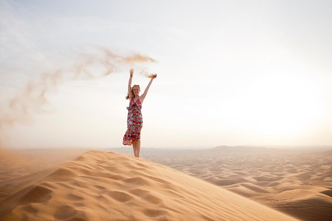 Sharing Afternoon Desert Safari from Dubai with Dinner and Camel Ride