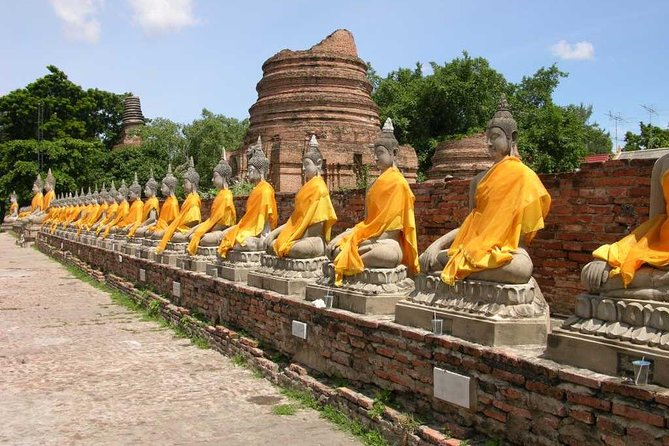 Ayutthaya Temples and White Orchid River Cruise from Bangkok
