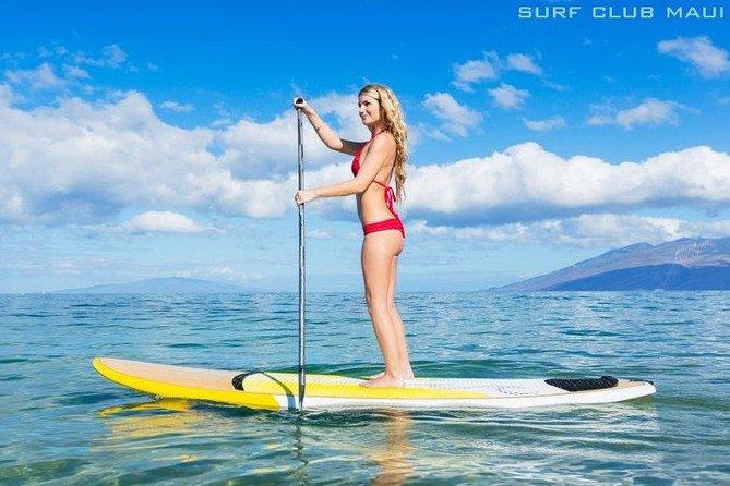 Semi Private Stand Up Paddle Boarding (SUP) Class at Kalama Beach in Kihei