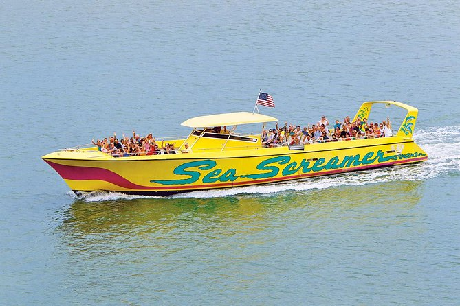 Sea Screamer Boat Cruise in Clearwater Beach with Transport