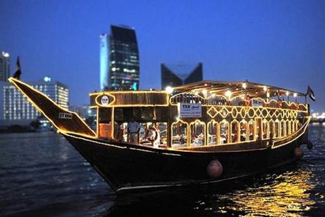 Dhow Cruise Dinner at Dubai Creek with Transportation