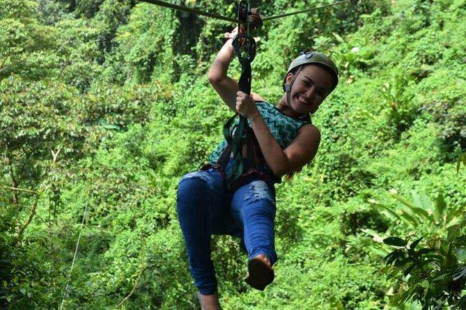 Costa Rica Full Day Combo Tour - Zip lining, Waterfalls, Volcano & Hot Springs