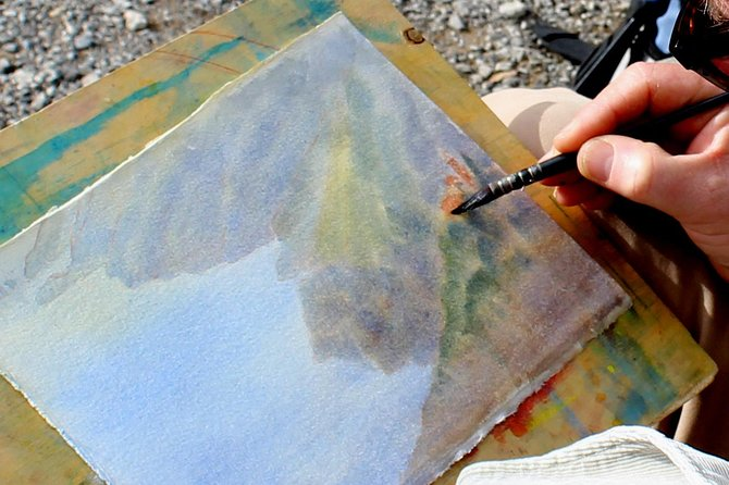 Watercolor Painting on the Walk of the Gods.