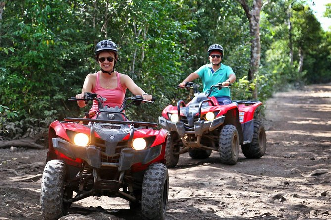 Adrenaline tour from Cancun driving a Atv experience Ziplines and a real Cenote