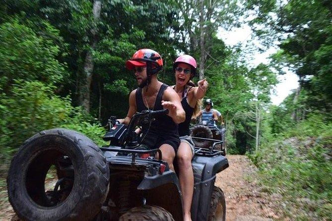 Amazing Combo ATV! with Cenote and Ziplines (ATV shared)