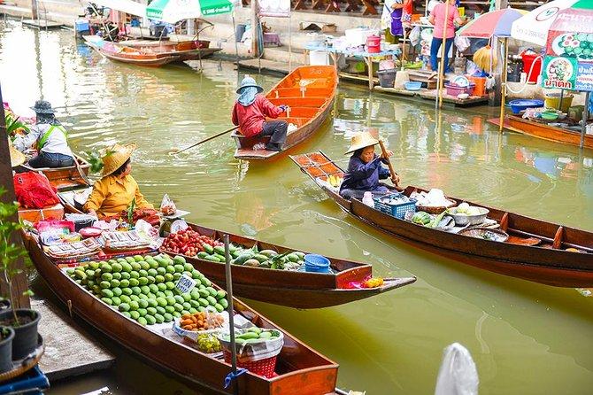 Private Tour: Floating Markets of Damnoen Saduak Cruise Day Trip from Bangkok