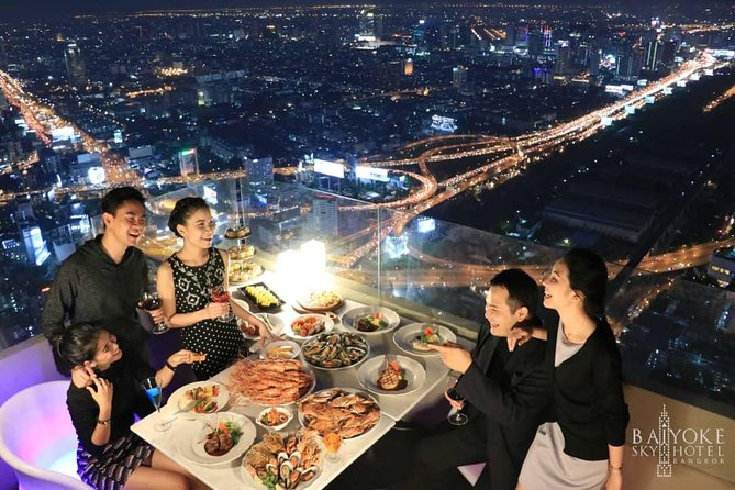 Baiyoke Sky Hotel Observation Deck Ticket With Dinner & 1 Hour Massage