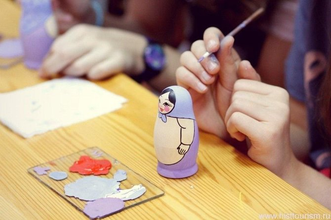 Matrioshka-doll painting master-class