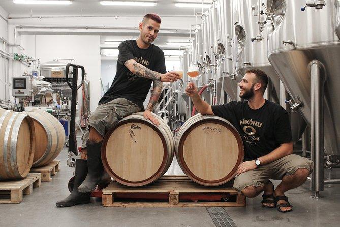 Cellar Tour & Beer Tasting at Mykonos Brewing Company