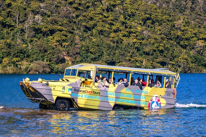 Rotorua Duck Boat Guided City and Lakes Tour