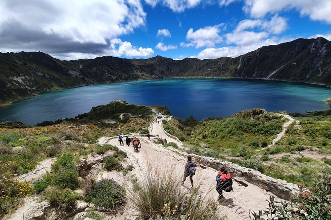 Laguna del Quilotoa one of the most beautiful lagoons in the world.
