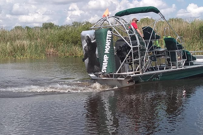 Air Boat Tour of Palm Beach in The Swamp Monster