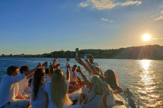 Sunset on board a 15 meter yacht with a glass of cava