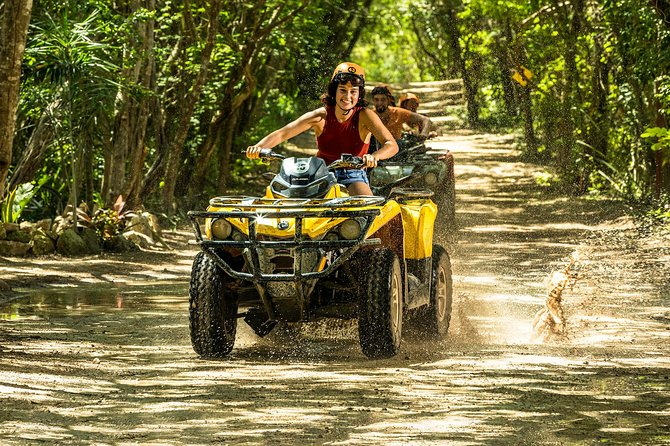 Emotions Native Park with ATVs, Ziplines, Cenote & Transportation included