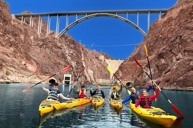 Hoover Dam Kayak Tour on Colorado River with Optional Pickup in Las Vegas