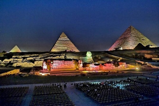 sound and light show at giza pyramids from cairo or giza hotel