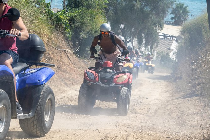 Adventure Quad ATV Safari Guided Tour at The Pink Palace in Agios Gordios, Corfu
