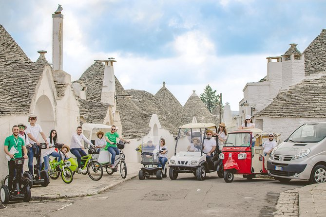 Alberobello Tour in Sewgay, Risció, E-bike or Mini Golf Cart