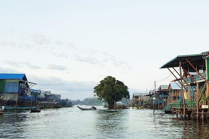 Private 1 day tour at Angkor Wat sunset at Tonle Sap floating village.