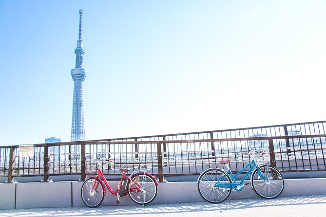 [electric bicycle tour]: 6-hour travel course by electric bicycle Asakusa, Ueno Park, Edo-Tokyo Museum, and Sky Tree. (There is a support car.)