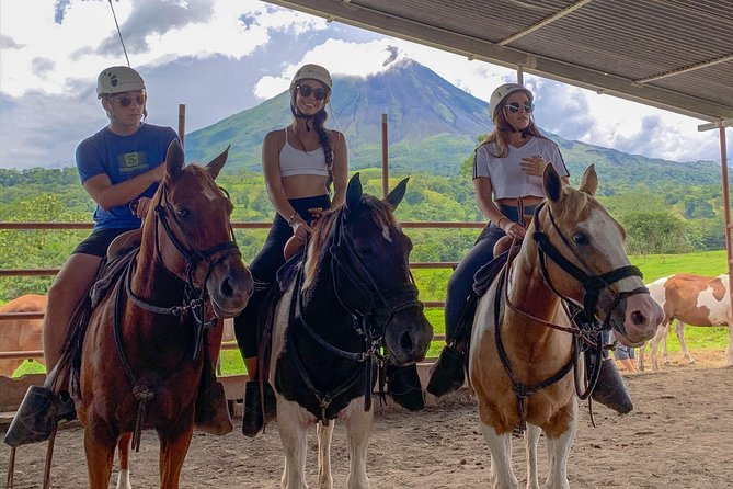Horseback Riding to Arenal volcano lava