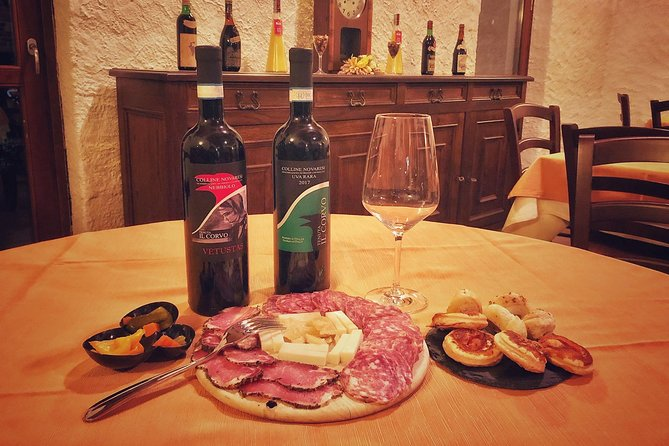 Tasting of 2 wines + cold cuts and cheeses