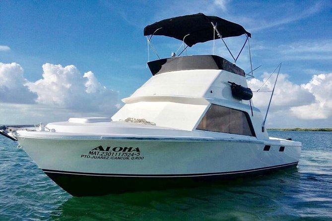 Cancun fishing charter if you don't fish you don't pay Bertram 31ft 6 pax 25P5