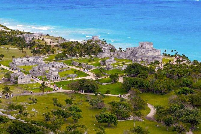 4X1 Tulum and Coba with Cenote, Playa del Carmen and Pueblo Maya