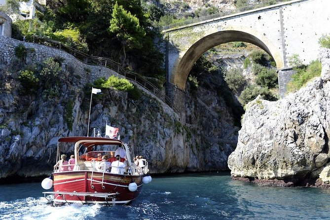 Positano and Amalfi small group boat tour from Rome with high speed train