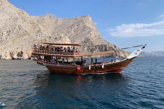 Khasab Dhow Cruise Full day, Buffet Lunch on Board, swimming