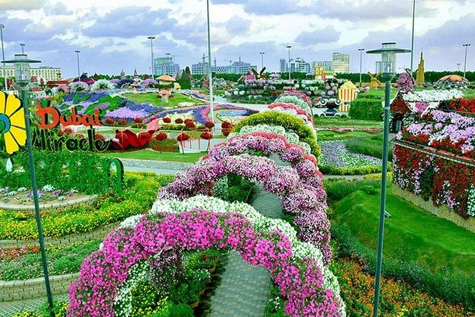 Dubai Miracle Garden with private round trip transfers